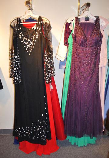 Special Occasion Black & Mauve Dresses