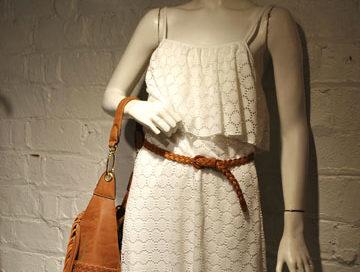 Juniors Mannequin White Dress