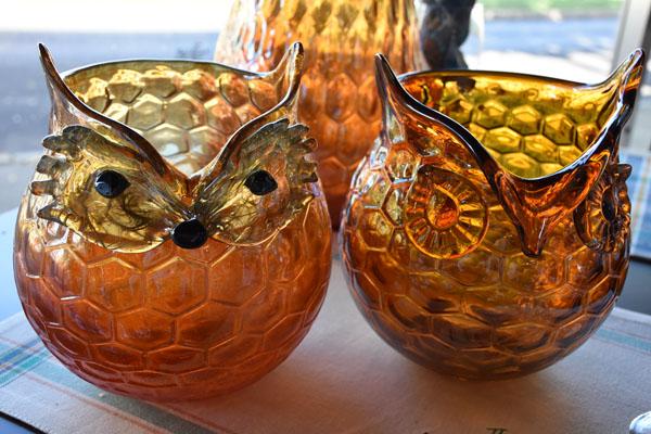 Decorative Owl Glassware